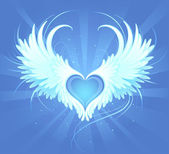 Heart of an angel — Stock Vector