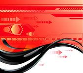 Red background with oil red background with oil — Stock Vector