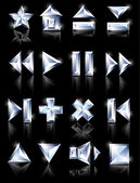 Icone di diamante diamante icone — Vettoriale Stock
