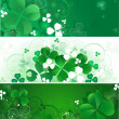 Royalty-Free Stock Vector Image: Banner with the magic clover