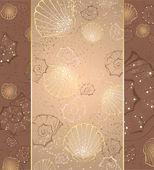 Design with seashells — Stock Vector