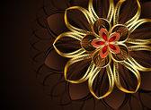 Abstract golden flower — Stock Vector