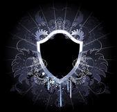 Gothic black shield — Stock Vector