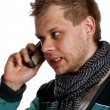 Stock Photo: Young mtalking on phone