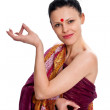 The brunette in the Indian sari — Stock Photo #6346875