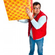 Man with a mail box — Stock Photo