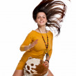 The girl with drum — Stock Photo