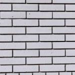 textura de ladrillo-pared blanca — Foto de Stock