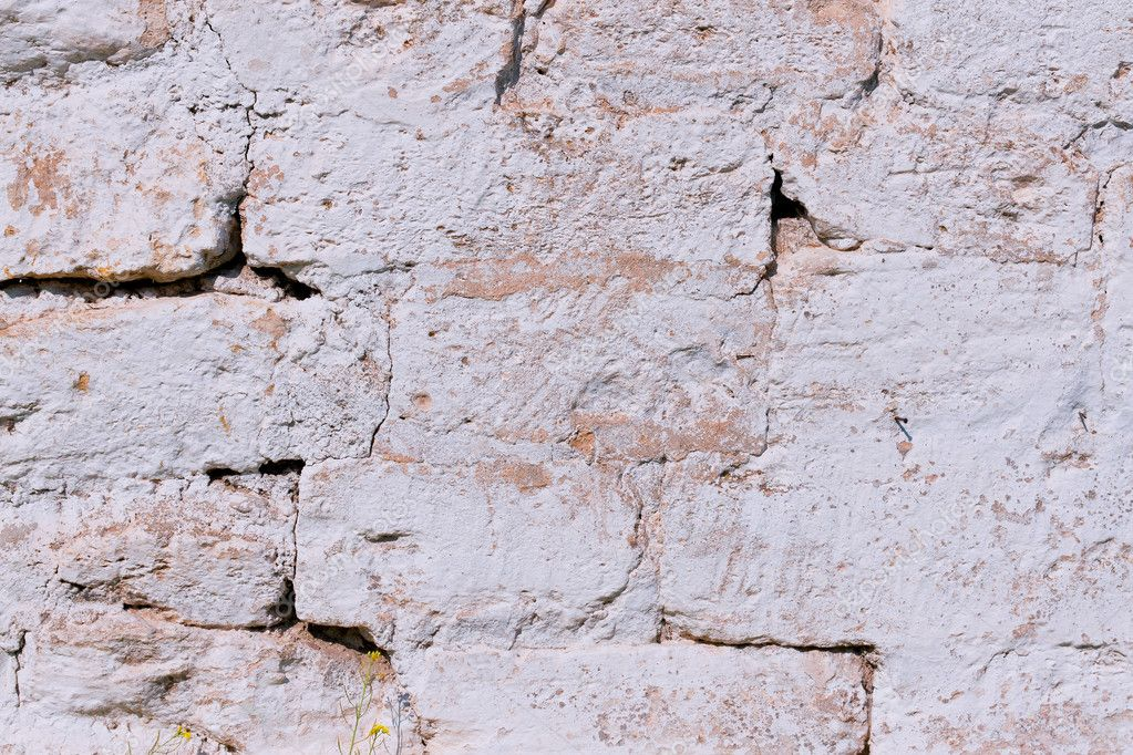 Fragment rough masonry walls the color white gray  Stock Photo #6646901