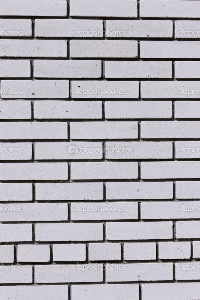 Fragment of white brick walls contrasting rhythmic pattern — Stock Photo #6646909