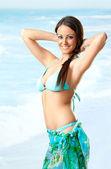 Female sea swimsuit — Stock Photo