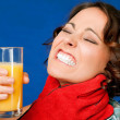 Pain thirst juce throat - Stock Photo