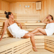 Females relaxing in sauna — Stock Photo #6373837