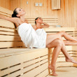 Females in sauna — Stock Photo #6373841