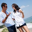 Couple beach summer — Stock Photo