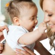 Baby hospital mother — Stock Photo