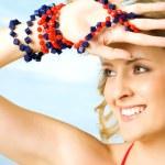 Female beach portrait — Stock Photo #6373936