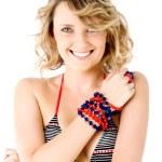 Smiling female swimsuit — Stock Photo #6373941