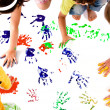 Stock Photo: Kids hand prints
