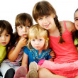 Group children hugging — Stock Photo