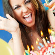 Stock Photo: Woman burthday cake