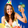 Female celebrating birthday — Stock Photo