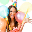 Female celebrating birthday — Stock Photo #6374015