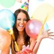 Female celebrating birthday — Stock Photo