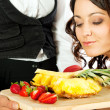 Stock Photo: Restaurant fresh fruits