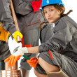 Female construction workers — Stock Photo