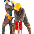 Stock Photo: Female construction workers
