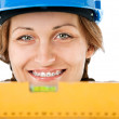 Female worker level — Stock Photo