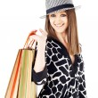 Girl shopping bags — Stock Photo
