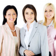 Team beautiful businesswomen — Stock Photo