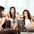 Stock Photo: Splounge women talking