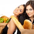 Stockfoto: Interactive couple groceries
