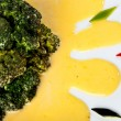 Brocolli with sauce Hollandaise — Stock Photo