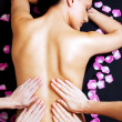 Lower back massage - Foto de Stock  