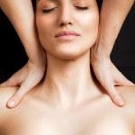 Shoulder massage — Stock Photo