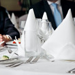 Business lunch meeting — Stock Photo