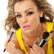 Stock Photo: Female makeup