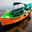 Taxi boat in Ohrid Macedonia - Stock Photo
