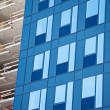 Glass facade and construction site - Stock Photo