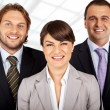 Positive business team of three — Stock Photo