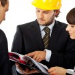 Contractor and investor meeting — Stock Photo