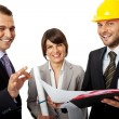 Royalty-Free Stock Photo: Happy contractor and investors