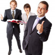 Stock Photo: Thumbs up business