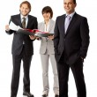 Positive business team isolated — Stock Photo