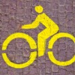 Bicycle line sign - Stock Photo