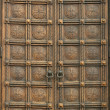 Carved wooden door - Stock Photo